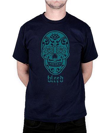 Camiseta Bleed American Los Muertos Marinho