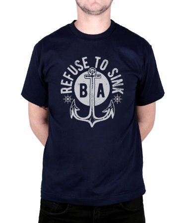 Camiseta Bleed American Refused To Sink Marinho