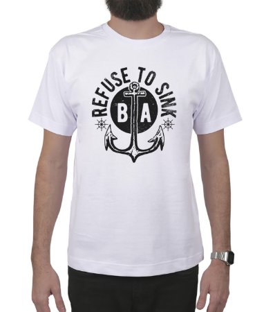 Camiseta Bleed American Refused To Sink Branca