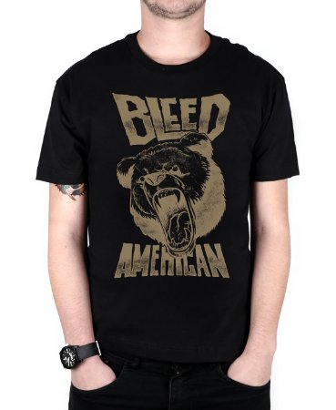Camiseta Bleed American Killer Bear Preta