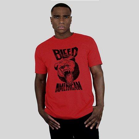 Camiseta Bleed Killer Bear Vermelha