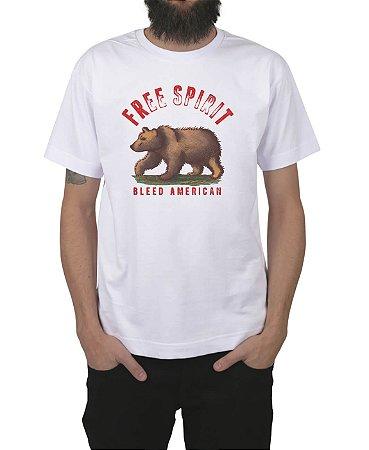 Camiseta Bleed American Free Spirit Branca