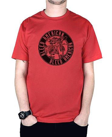 Camiseta Bleed American Los Borachos Vermelha