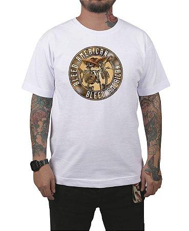 Camiseta Bleed American Los Borachos Branca