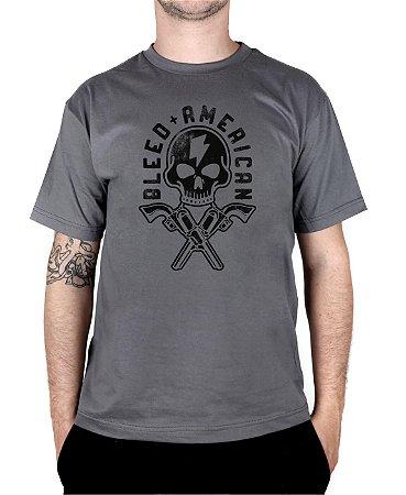 Camiseta Bleed American Skull Walker Chumbo