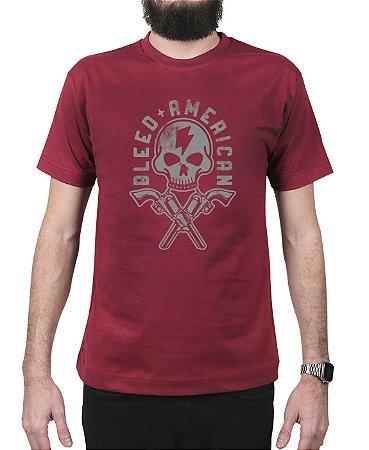Camiseta Bleed American Skull Walker Vinho