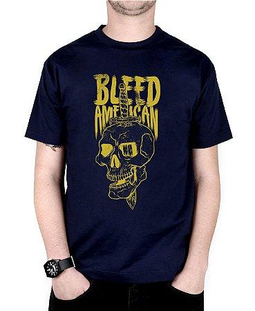 Camiseta Bleed American Bope Marinho