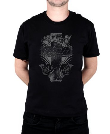 Camiseta Bleed American Faith Preta