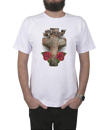 Camiseta Bleed American Faith Branca