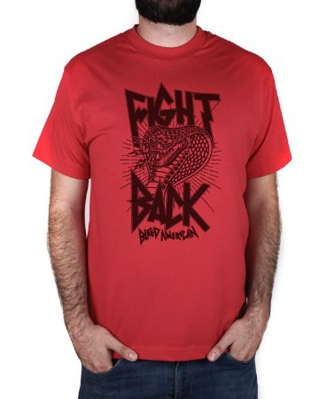 Camiseta Bleed American Fight Back Vermelha