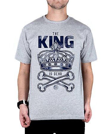 Camiseta Bleed King Is Dead Cinza Mescla