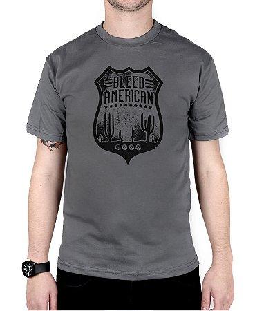 Camiseta Bleed American Route 66 Chumbo
