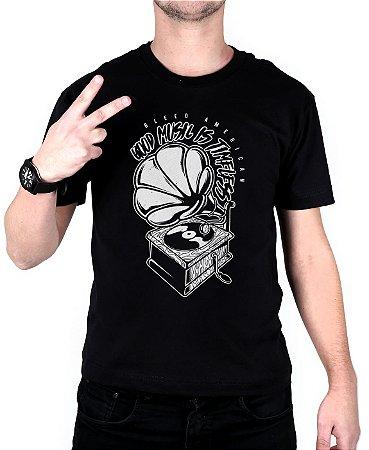 Camiseta Bleed American Turntable Preta