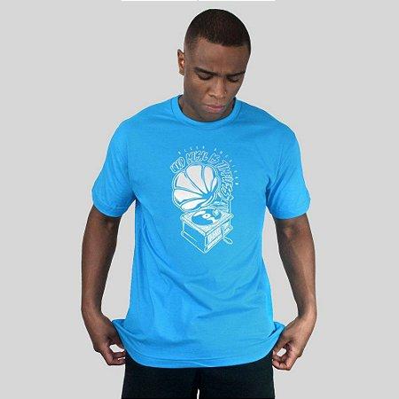 Camiseta Bleed Turntable Turquesa