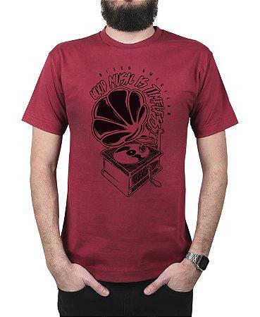 Camiseta Bleed American Turntable Vinho