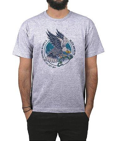 Camiseta Bleed American Eagle  Cinza Mescla