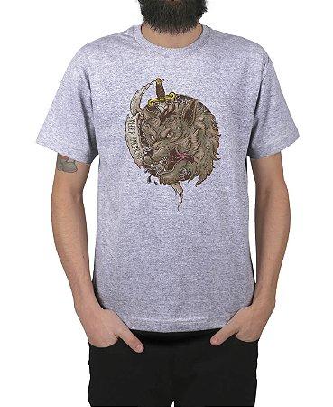 Camiseta Bleed American Beast Cinza Mescla