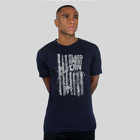 Camiseta Bleed Dark Flag Marinho