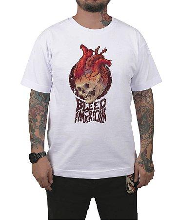 Camiseta Bleed American Medusa Branca