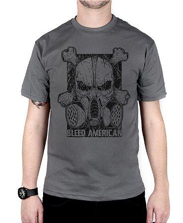 Camiseta Bleed American Gas Mask Chumbo
