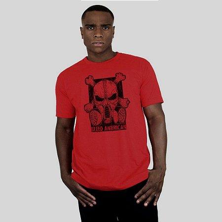 Camiseta Bleed Gas Mask Vermelha