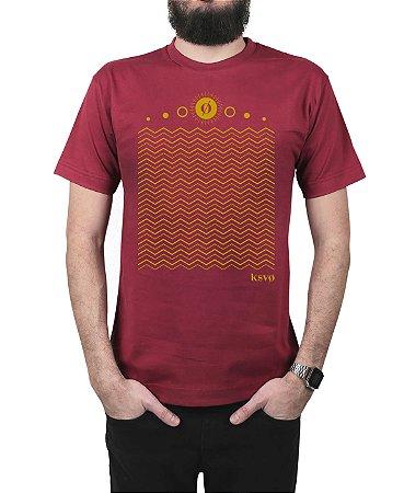 Camiseta Kosovo Waves Vinho