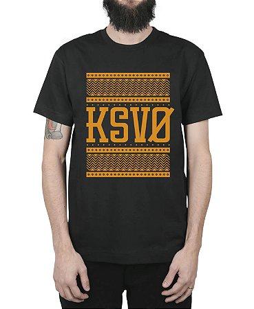 Camiseta Kosovo Triangles Preta