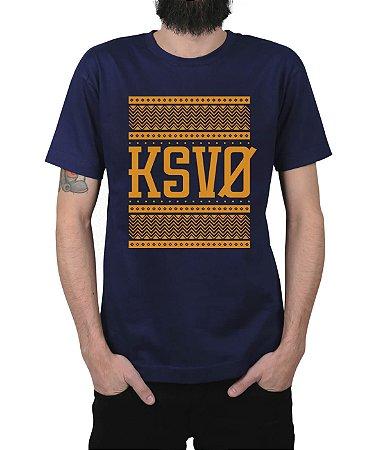 Camiseta Kosovo Triangles Marinho