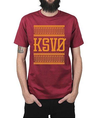 Camiseta Kosovo Triangles Vinho