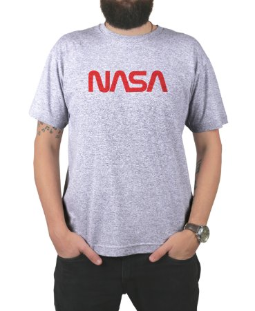Camiseta Nasa Cinza Mescla