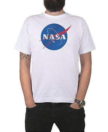 Camiseta Nasa Logo Branca