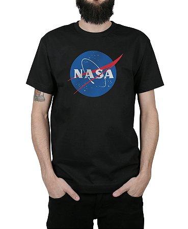 Camiseta Nasa Logo Preta