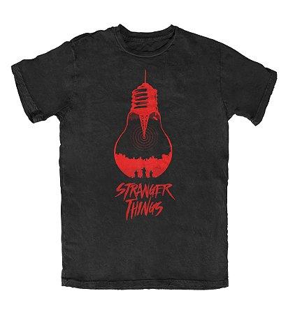 Camiseta Stranger Things The Upside Down Preta