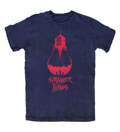 Camiseta Stranger Things The Upside Down Marinho