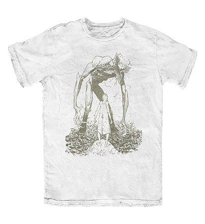 Camiseta Stranger Things Demogorgon Branca