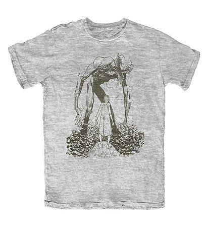 Camiseta Stranger Things Demogorgon Cinza Mescla