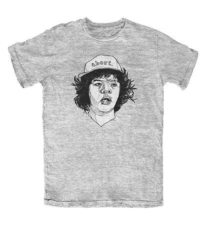 Camiseta Stranger Things Dustin Cinza Mescla