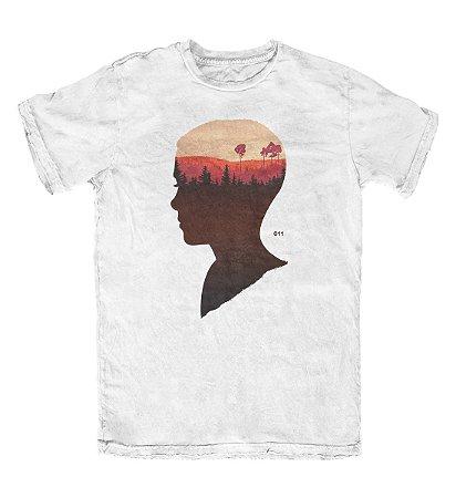 Camiseta Stranger Things Eleven 011 Branca