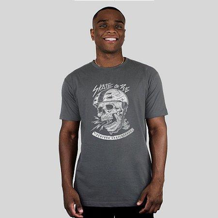 Camiseta Ventura Skate Or Die Chumbo