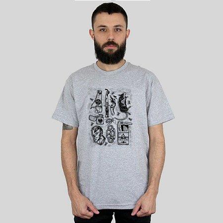 Camiseta Ventura Junkie Cinza Mescla