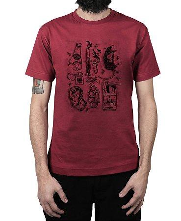 Camiseta Ventura Junkie Vinho