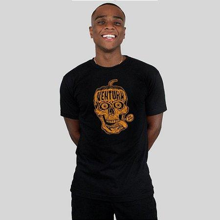 Camiseta Ventura Pumpkin Skull Preta
