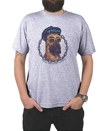 Camiseta Ventura Scooby Dog Cinza Mescla
