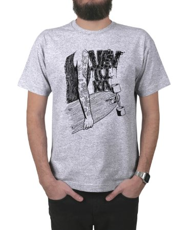 Camiseta Ventura Inked Cinza Mescla