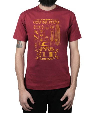 Camiseta Ventura Choose Your Lifestyle Vinho