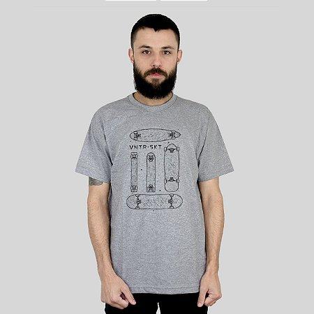 Camiseta Ventura Shapes Cinza Mescla