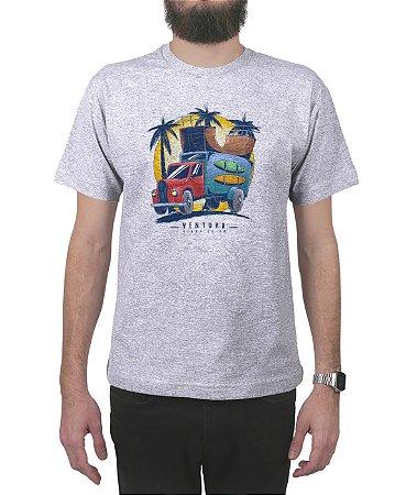 Camiseta Ventura Skate Truck Cinza Mescla