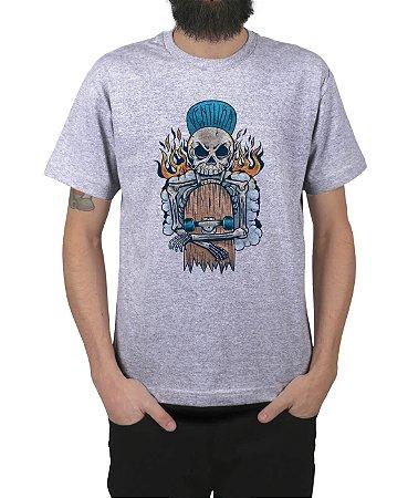 Camiseta Ventura Hellskater Cinza Mescla
