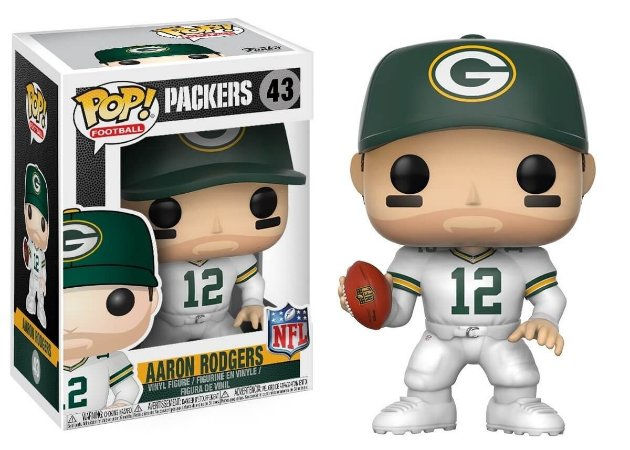 Funko POP! NFL - Aaron Rodgers #43 - White - Green Bay Packers