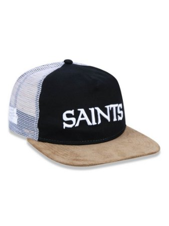 Boné 950 New Era NFL New Orleans Saints Preto/Branco